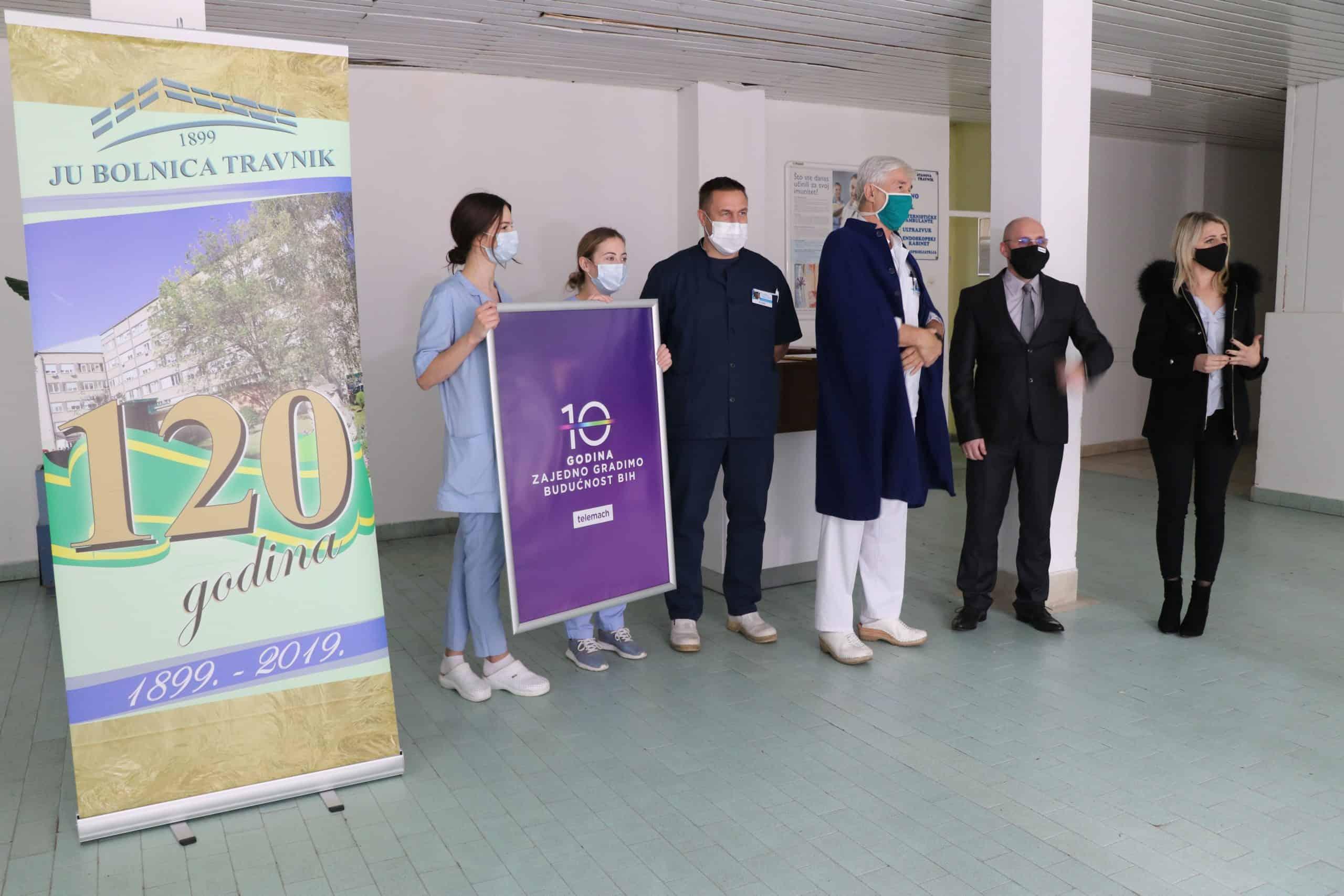 Kompanija Telemach donirala JU Bolnica Travnik opremu vrijednu 30.000 KM