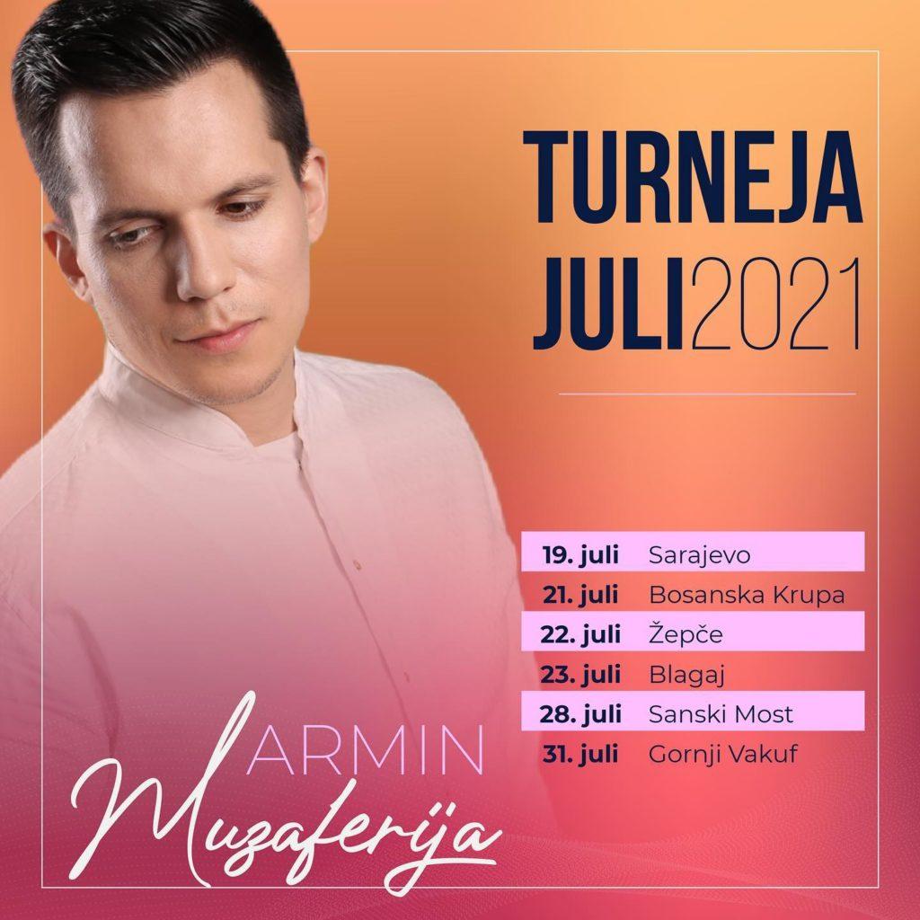 Armin Muzaferija - Brojni koncerti ovoga ljeta