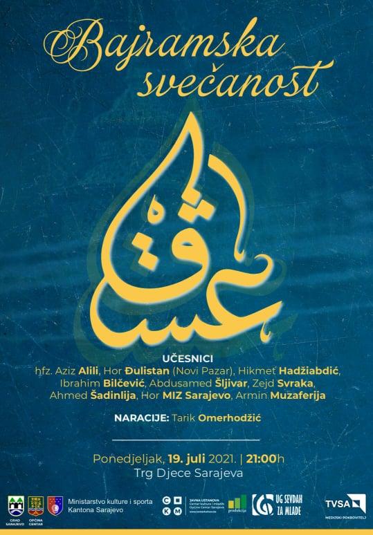 Bajramski koncert večeras u 21 sat u Sarajevu